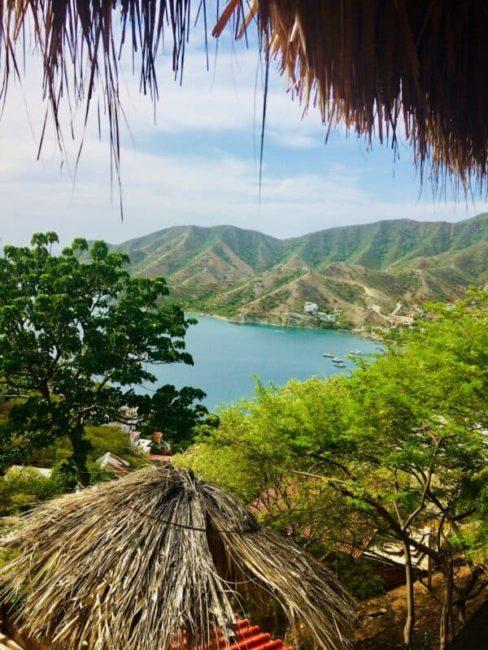 Taganga - colombie - vue - océan - plage - montagne