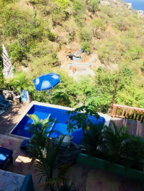 Piscine - taganga - colombie - vue - côte caraïbe
