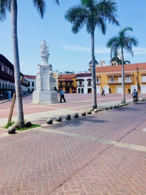 Place - rue - colombie - carthagène