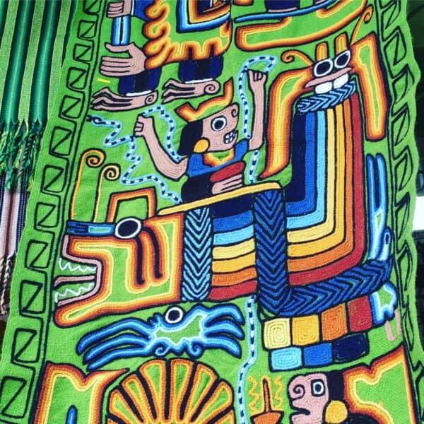 Tissus-alpaga-peru-Lima-marche artisanal