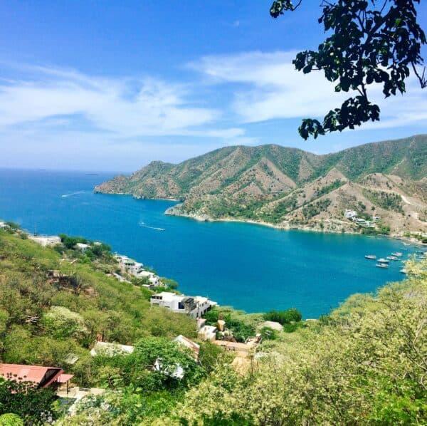 Vue - taganga - côte caraïbe - Santa Marta - colombie
