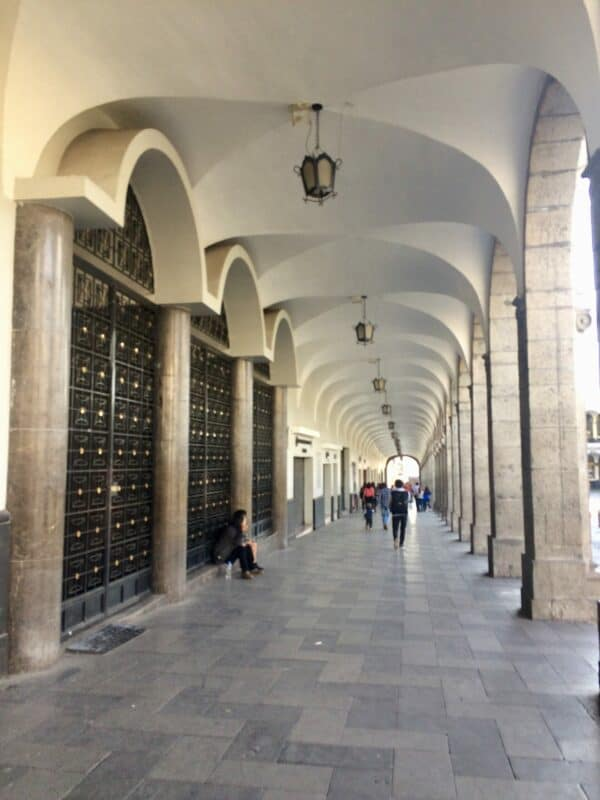 Place-arequipa-perou-palmier-cathedrale-arcade